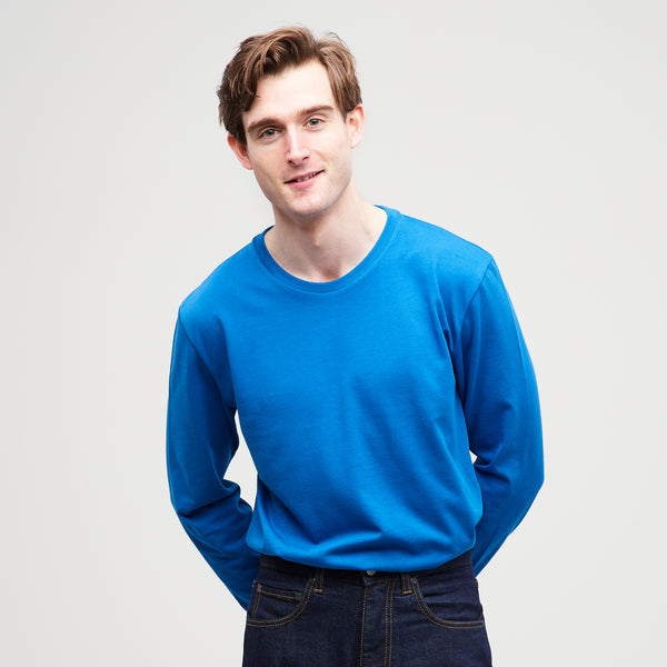Men's Long Sleeve T-Shirt Cobalt - Community Clothing