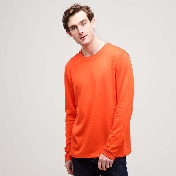 Men's Long Sleeve T-Shirt Flame Red - Community Clothing