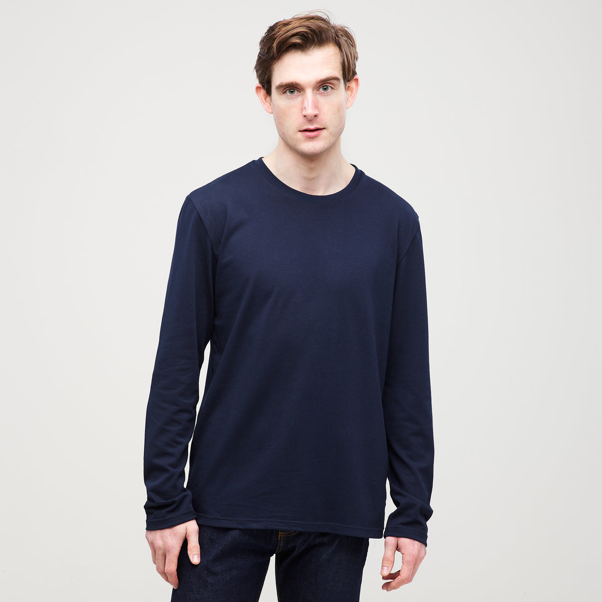 Men's Long Sleeve T-Shirt Navy - Community Clothing