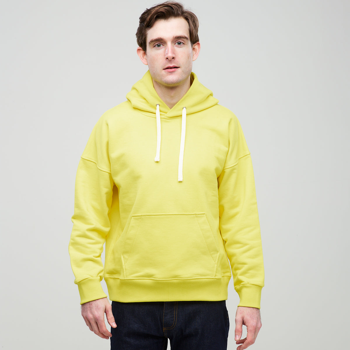 Men's Hooded Sweatshirt Canary Yellow - Community Clothing