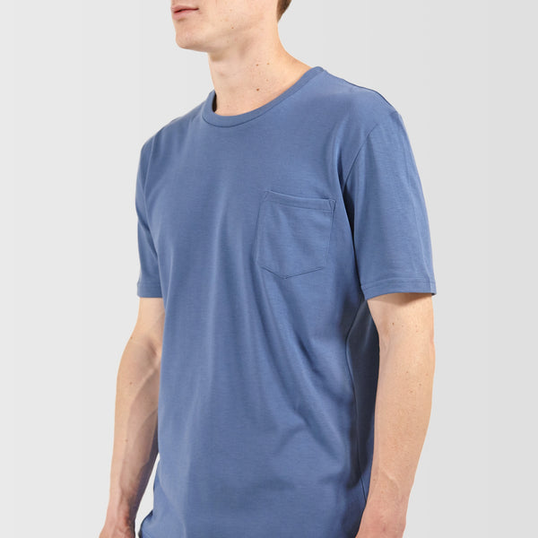 Men's Short Sleeve Pocket T-Shirt RAF Blue - Community Clothing