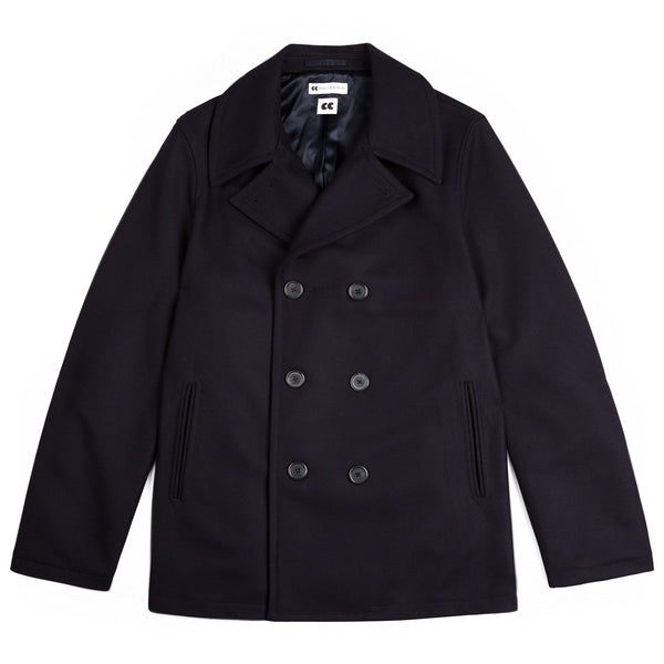 Men's Wool Peacoat Navy - Community Clothing