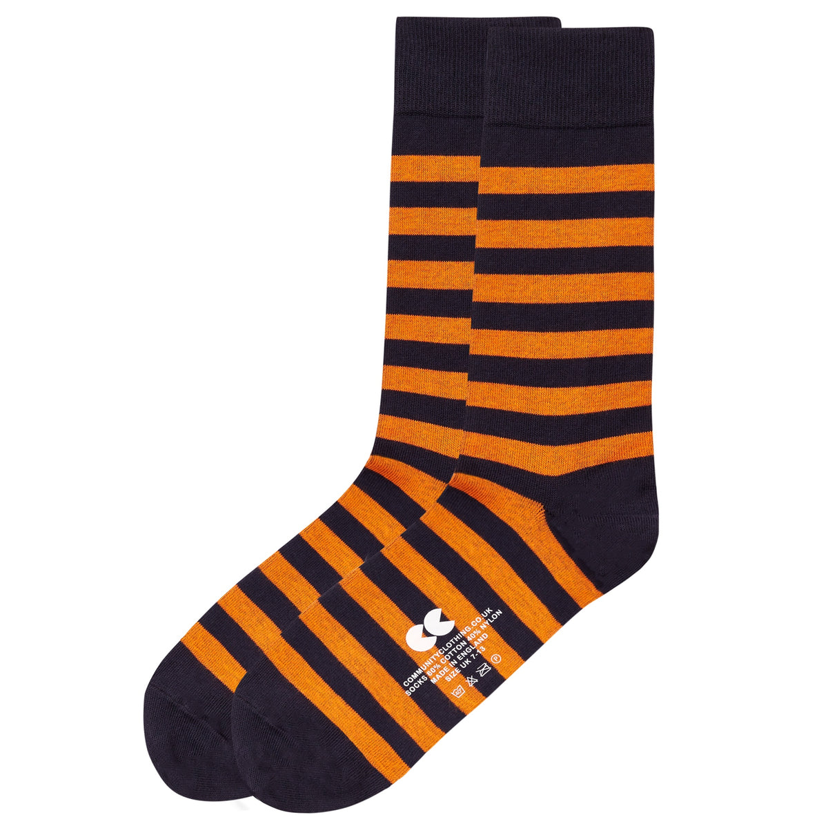 Striped Socks Navy/Orange