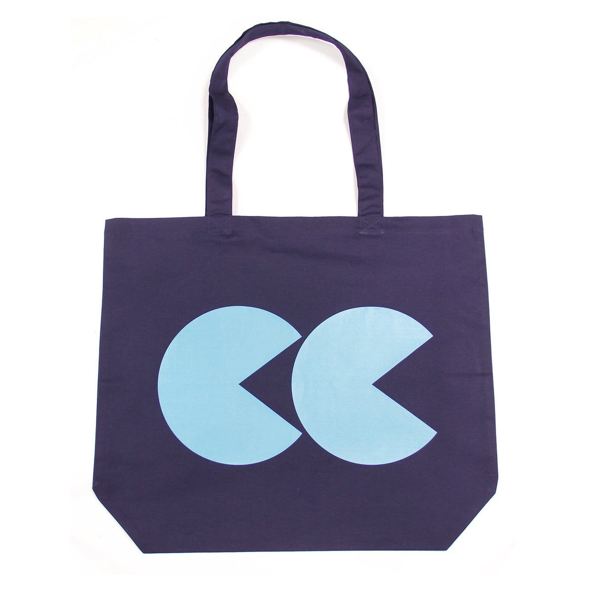 Printed CC Tote Bag Navy and Teal - Community Clothing