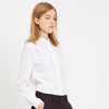 Womens Collarless Shirt White - Community Clothing