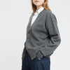 Lambswool Cardigan Grey - Community Clothing