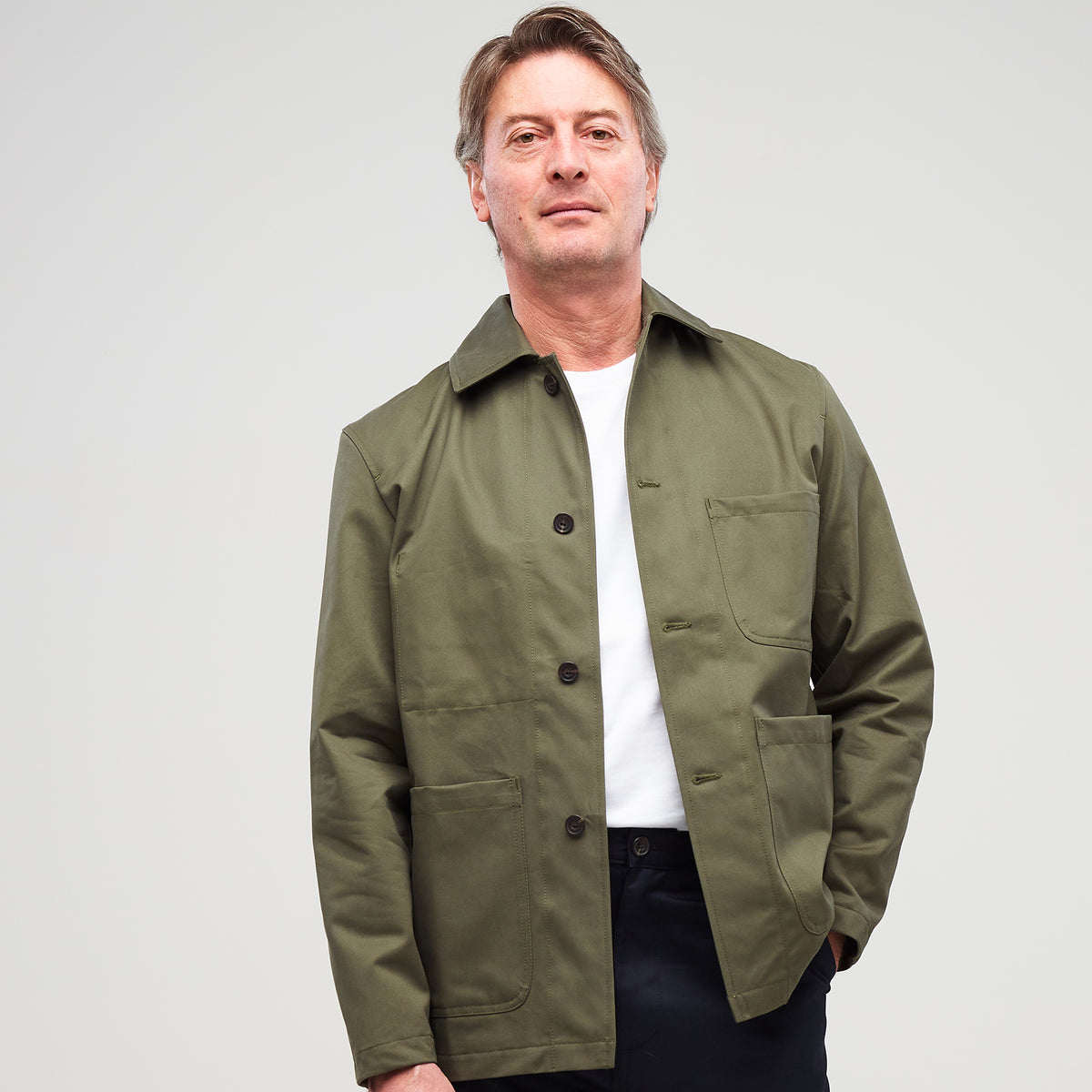 Men's Chore Jacket Olive - Community Clothing