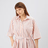 Cotton Dress- Straight- Pink Stripe - Community Clothing