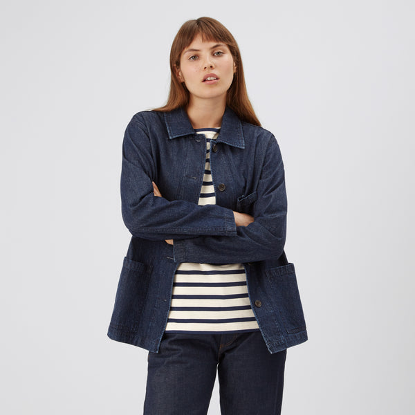 Women's Chore Jacket Indigo - Community Clothing