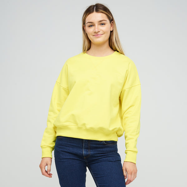 Women's Drop Shoulder Sweatshirt Canary Yellow - Community Clothing