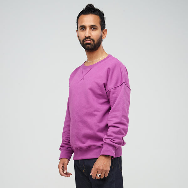 Men's Drop Shoulder Sweatshirt Lilac - Community Clothing