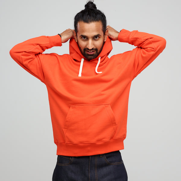 Men's Hooded Sweatshirt Flame Red - Community Clothing