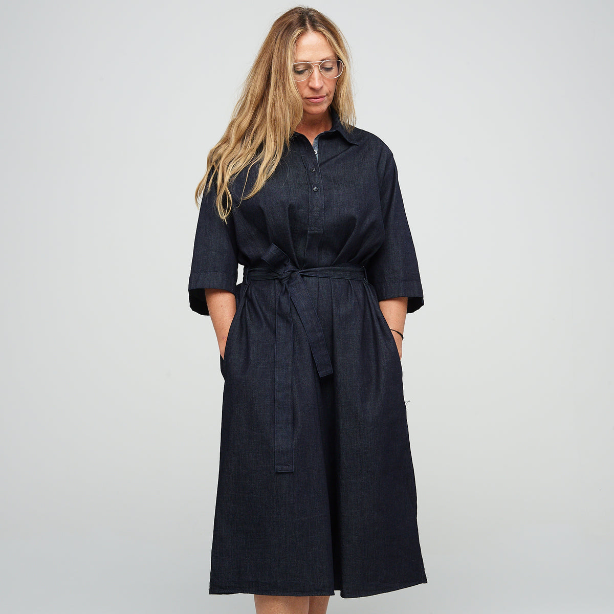 Denim Dress - Straight - Indigo Denim - Community Clothing