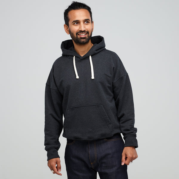 Men's Hooded Sweatshirt Charcoal - Community Clothing