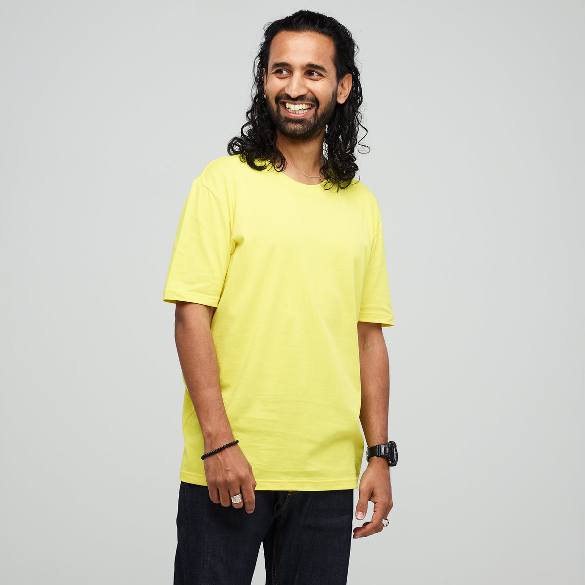 Men's Short Sleeve T-Shirt Canary Yellow - Community Clothing