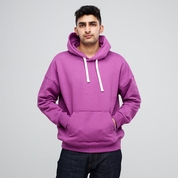 Men's Hooded Sweatshirt Lilac - Community Clothing
