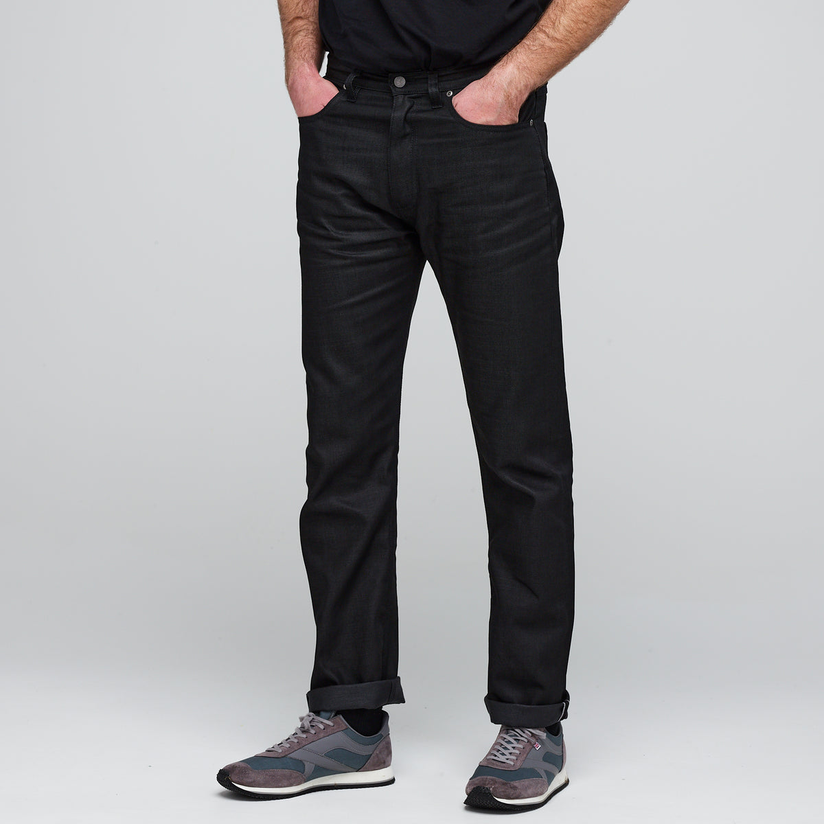Men's Straight Cut Selvedge Jean - Black Raw Denim - Community Clothing