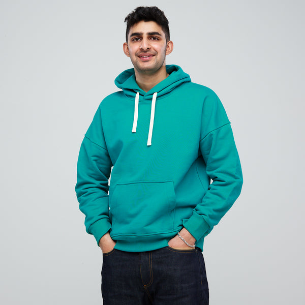 Men's Hooded Sweatshirt Emerald - Community Clothing