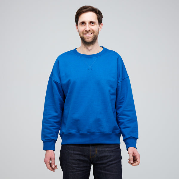 Men's Drop Shoulder Sweatshirt Cobalt - Community Clothing