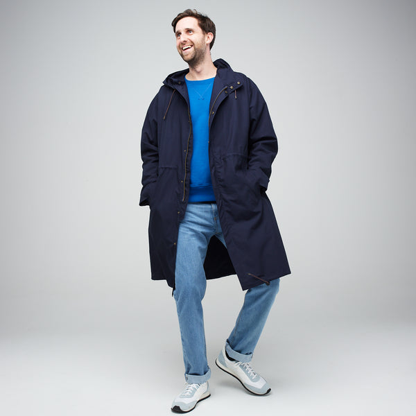 Men's Parka Navy - Community Clothing
