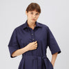 Cotton Dress - Straight - Navy - Community Clothing