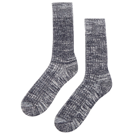 Walking Socks Navy/White