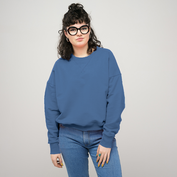 Women's Drop Shoulder Sweatshirt RAF Blue - Community Clothing
