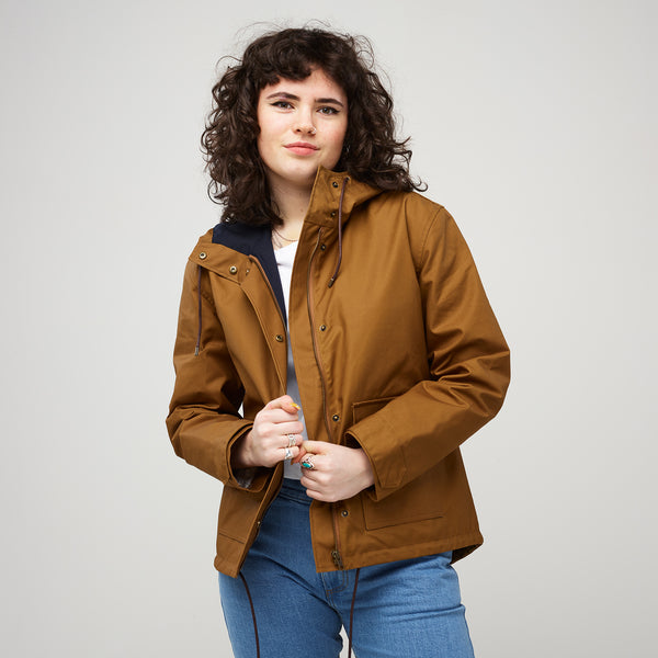 Women's Short Parka Camel - Community Clothing