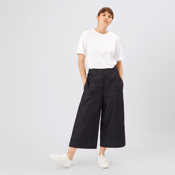 Women's Short PJ Trousers Indigo Denim - Community Clothing