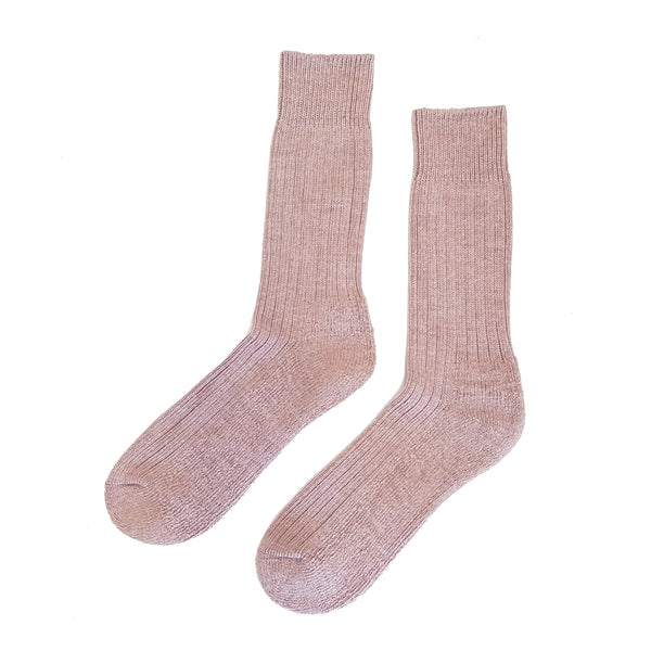 Cushioned Wool Blend Socks - Fawn - Community Clothing