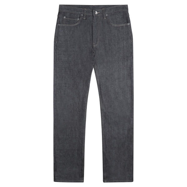 Men's Straight Cut Selvedge Jeans Grey/Black - Community Clothing