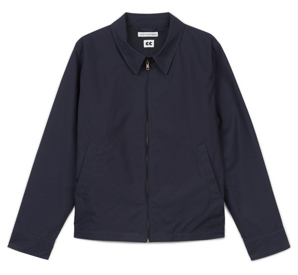 Men's Collared Harrington Jacket Navy - Community Clothing