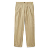 Men's Pleated Chino Stone