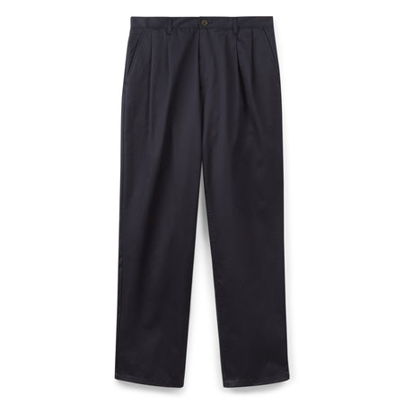 Men's Pleated Chinos Navy