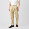 Men's Cotton Chino - Pleated - Stone - Community Clothing