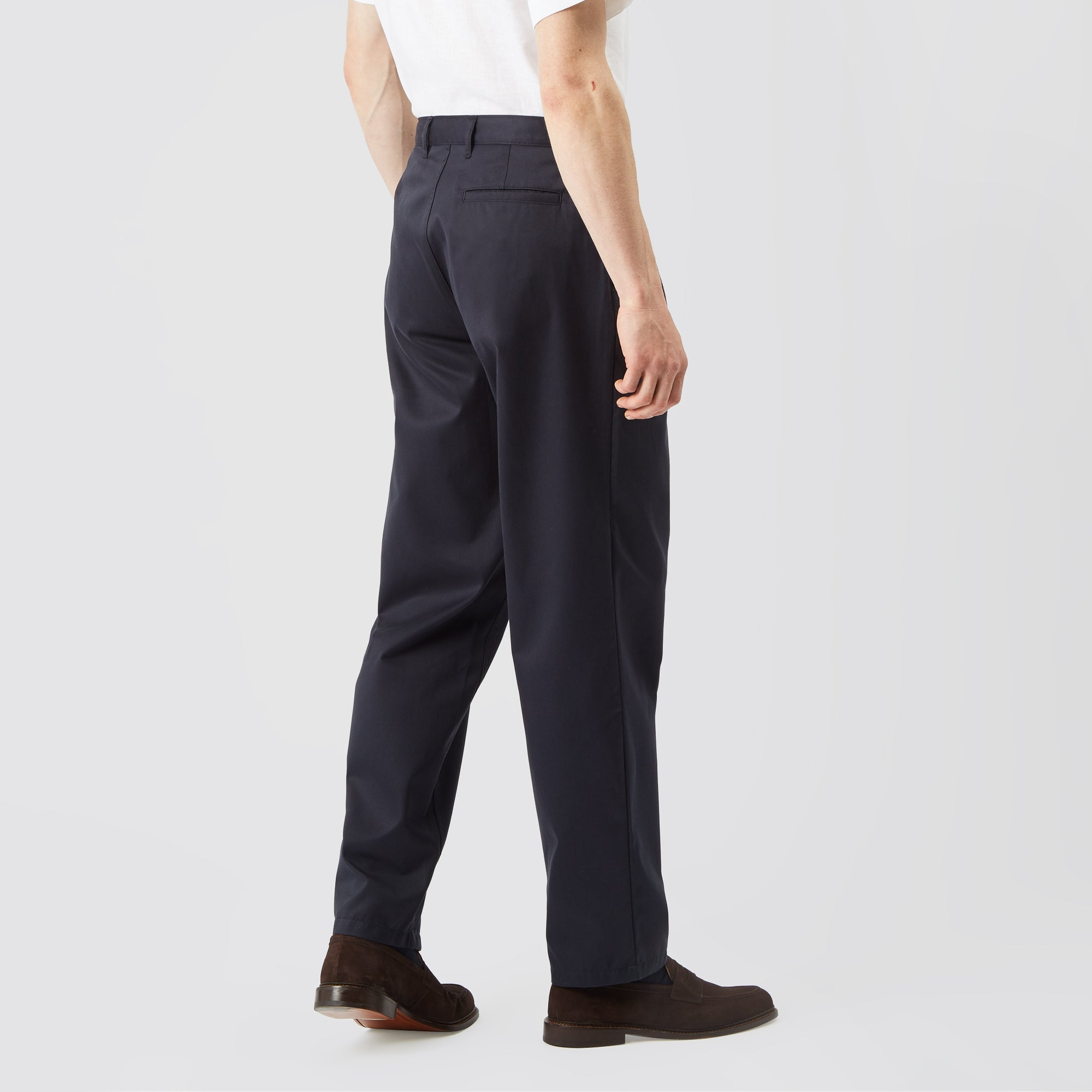 differently Sales promotion great discount sale Men's Cotton Chino - Pleated - Navy