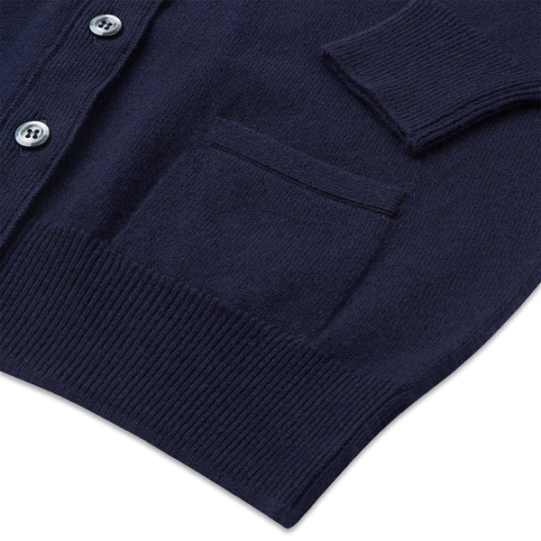 Lambswool Cardigan Navy - Community Clothing