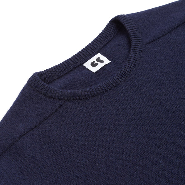 Lambswool Crew Neck Jumper Navy