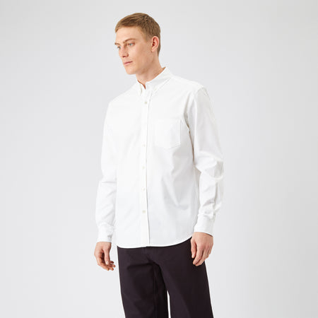 Men's Oxford Shirt White - Community Clothing