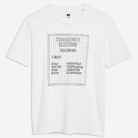 Unisex Printed Pegboard T-Shirt White