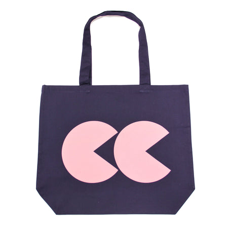 Printed CC Tote Bag Navy and Pink - Community Clothing