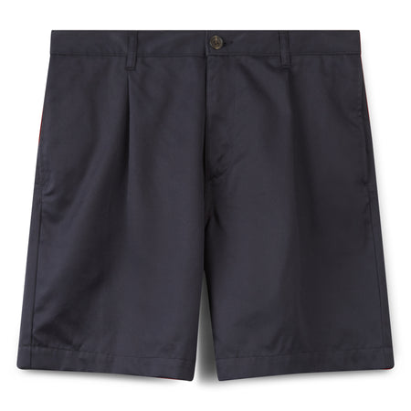 Men's Cotton Shorts - Pleated - Navy