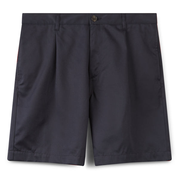 Men's Cotton Shorts - Pleated - Navy - Community Clothing
