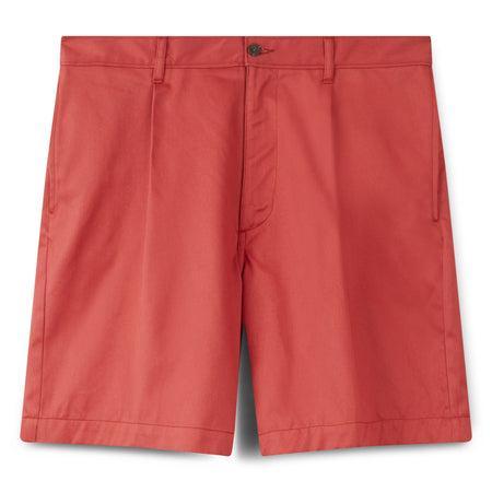 Men's Cotton Shorts - Pleated - Pink