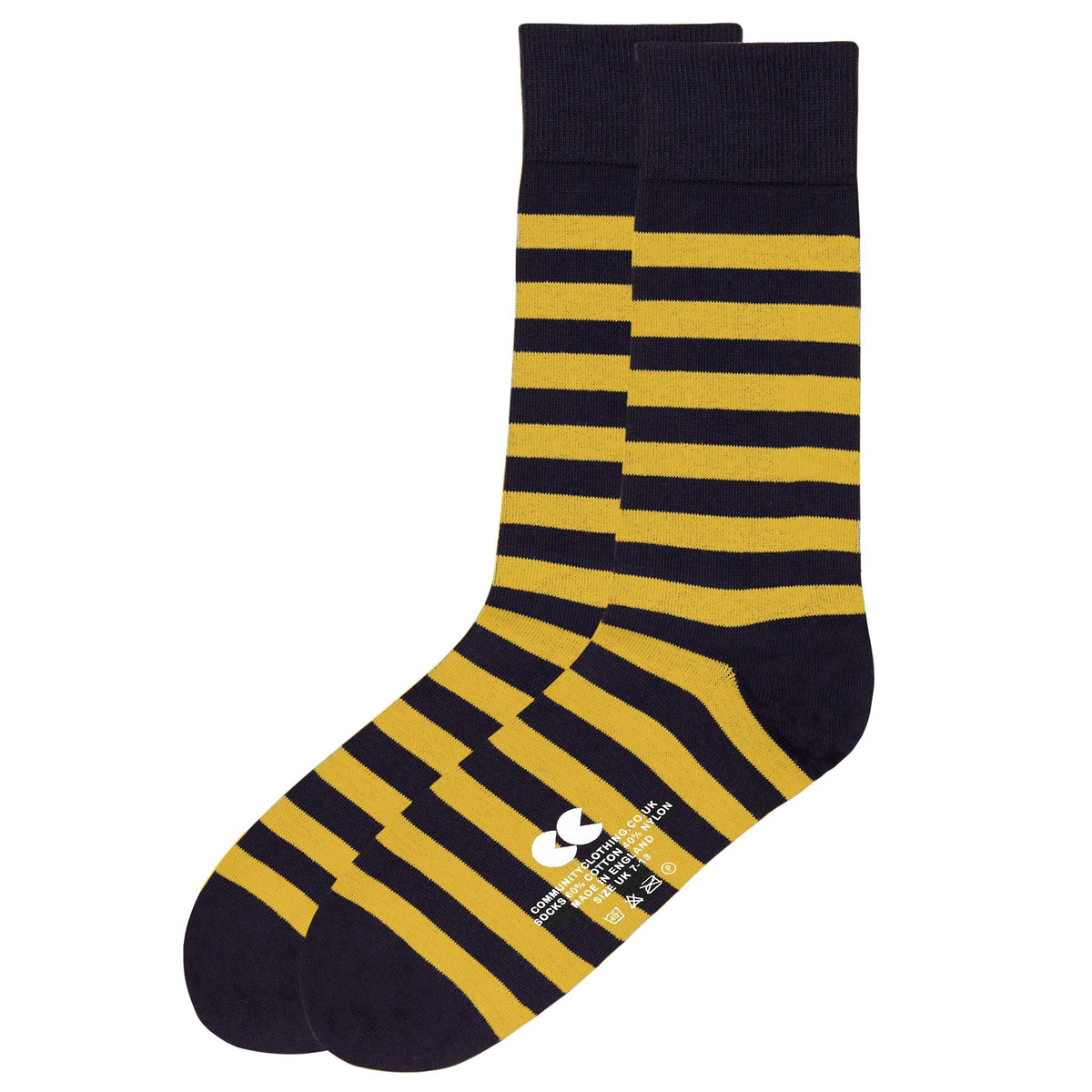 Striped Socks Navy/Yellow - Community Clothing