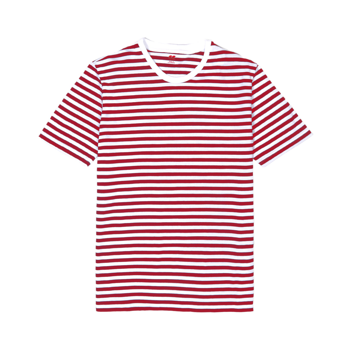Women's Short Sleeve Stripe T-Shirt Red/White - Community Clothing