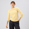 Women's 3/4 Sleeve Breton Ecru/Yellow - Community Clothing