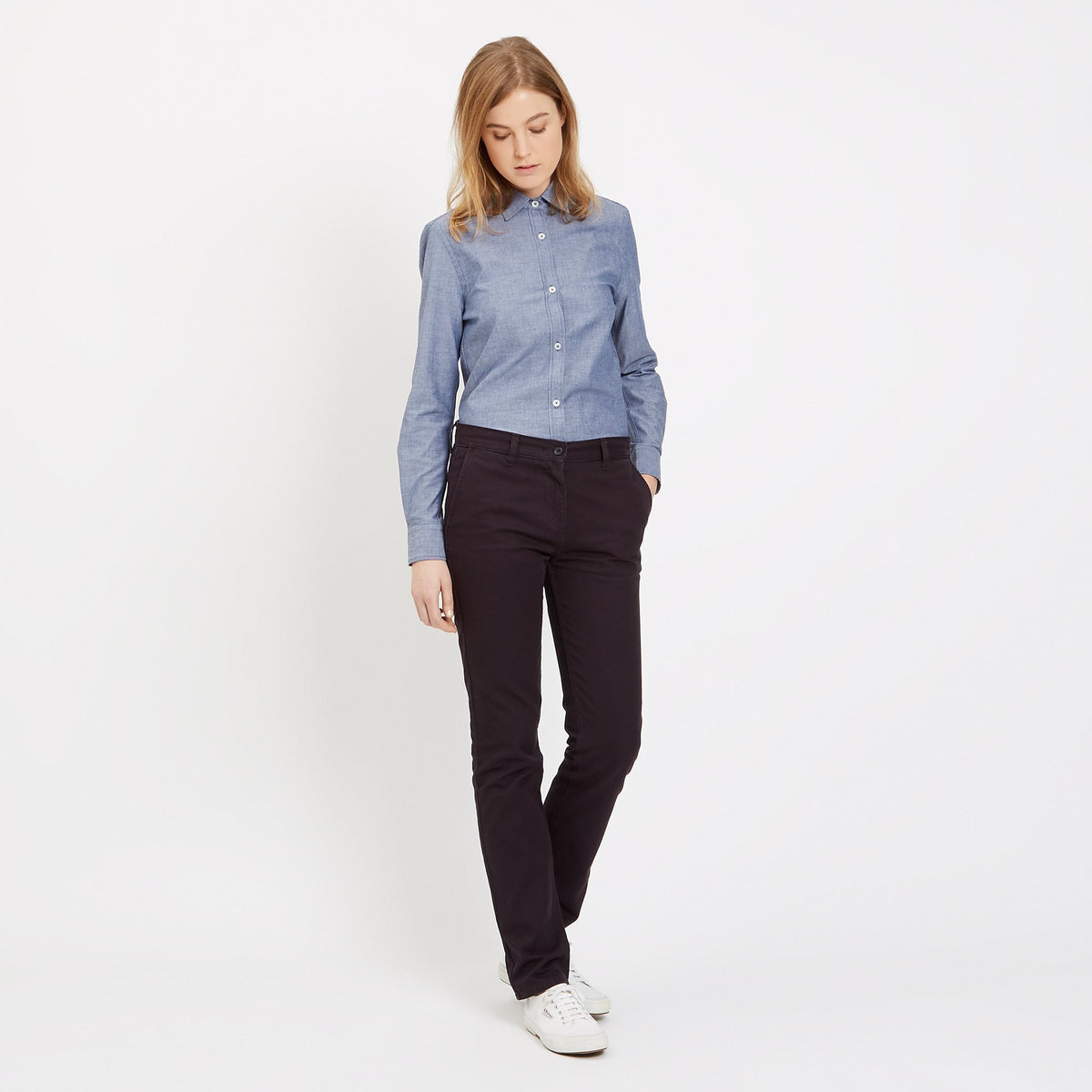 Women's Chinos Navy - Community Clothing