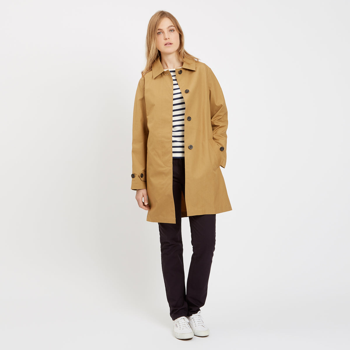 Women's Raincoat Camel - Community Clothing