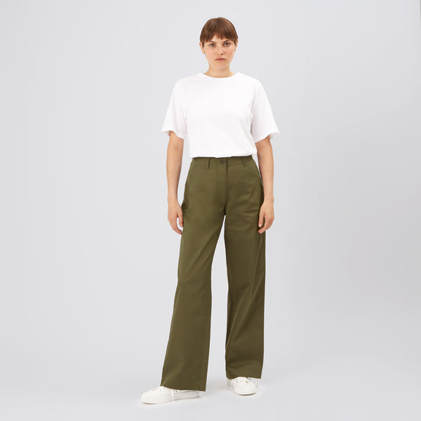 Women's Work Trousers Olive - Community Clothing